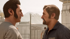 Leo and Vincent from A Way Out talking in the prison courtyard