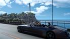 Final Fantasy XV characters driving along a coast