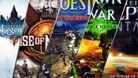 composit of several strategy game box arts including rise of nations, endless legend, dark crusade, heroes 3