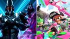 artwork showing characters from fortnite and splatoon