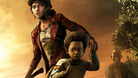 Clementine protecting AJ from the Walkers