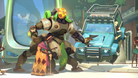 Picture of Orisa helping an old woman across the street