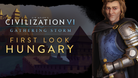 Matthias Corvinus as leader of Hungary in Civilization VI: Gathering Storm