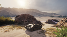 Chinese tank destroyer in the desert in World of Tanks