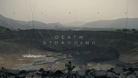 Death Stranding logo across an image of a crater