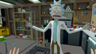 Rick from popular animated show Rick and Morty in a 3D setting