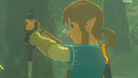 Link holding the Master Sword