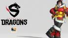 Overwatch League Shanghai Dragons logo and Mei