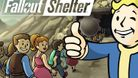 Promotional image for Fallout Shelter showing people migrating to a vault