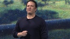 Phil Spencer giving his speech at DICE 2018