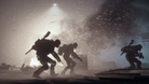 Screenshot from The Division showing two SHD agents in a heavy snow storm.