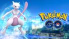 EX Raid logo: Mewtwo standing next to a Pokemon GO logo
