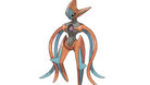 Pokemon Deoxys in its attack form