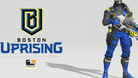 Overwatch League Boston Uprising logo and Soldier 76
