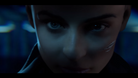 A still from Cyberpunk 2077 trailer showing a close up of Psycho Squad's newest recruit.