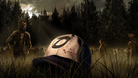 Clementine's hat in the field crawling with walkers