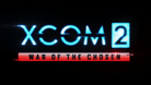 Title screen image showing XCOM 2 in blue letters and War of the Chosen in black with red background, which is in turn on a black background.
