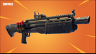 Picture of Fortnite's Heavy Shotgun on an orange background indicating its legendary status.
