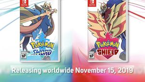 picture showing cover art for pokemon sword and shield
