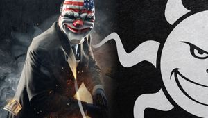 Picture of a guy from Payday and Starbreeze logo