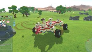 A sports looking vehicle in TerraTech construction game