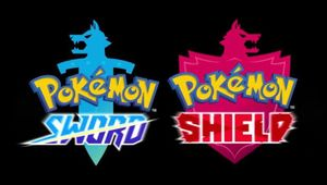 Picture of the logos for Pokemon Sword and Pokemon Shield