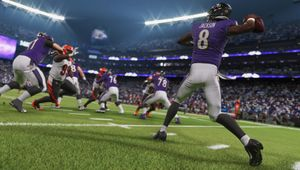 Madden NFL 21 screenshot mid-play