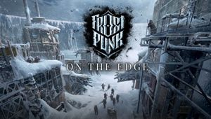 Frostpunk On The Edge artwork showing icy construction