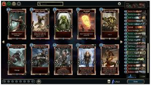 Set of cards from Bethesda's The Elder Scrolls Legends