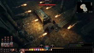 Baldur's Gate 3 screenshot showing traps in a dungeon