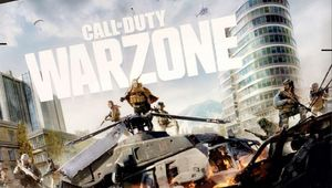 artwork showing cod warzone logo and several characters