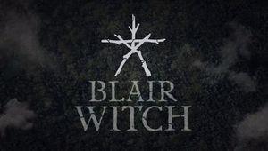 screenshot showing blair witch logo on black background