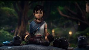 Kena Bridge of Spirits showing Kena main protagonist and cute Rots
