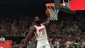 James Harden going for a dunk in NBA 2K20