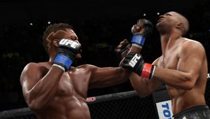 EA UFC 3 screenshot showing two fighters