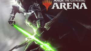 Female with a glowing bow, key art for Magic: The Gathering Arena