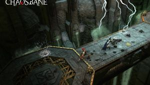 Screenshot from Warhammer: Chaosbane on some bridge