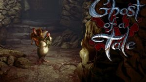 Poster for Ghost of a Tale showing the minstrel mouse protagonist looking at a dungeon wall.