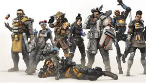 artwork showing the original Apex Legends characters