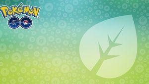 Pokemon GO's Grass-type month logo