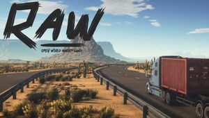 screenshot showing a truck driving on a desert highway
