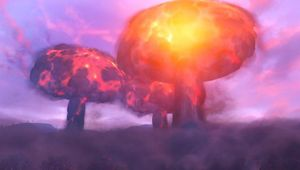 picture showing three nukes explosion in Fallout 76