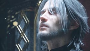 Final Fantasy XV Noctis sits in his throne
