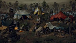 War Camp, headquarters from Thronebreaker: The Witcher Tales