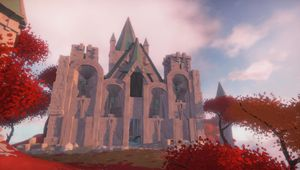 A large cathedral in Worlds Adrift, game by Bossa Studios