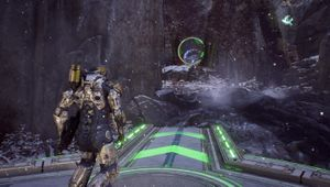 screenshot showing Icetide time trial in anthem
