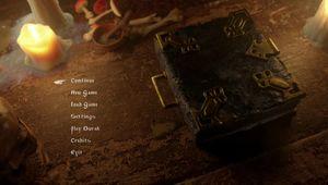 Black Book - main menu