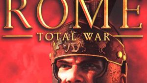 rome total war cover art showing game title and roman legionare looing super angry