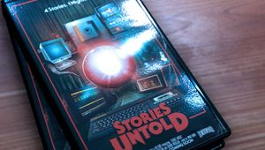 Two VHS tapes from the game Stories Untold