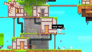 Pixelated world of the platformer game Fez